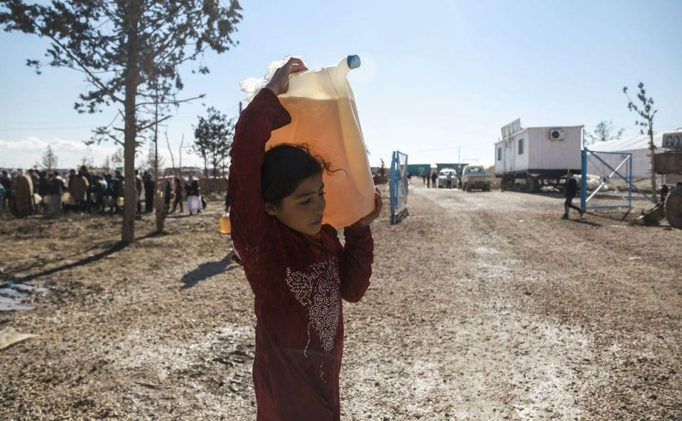 In pictures: Iraqi refugees fleeing from Mosul gather at the UN-run Al-Hol camp in Syria's Hassakeh province