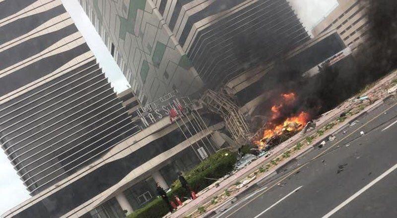 Construction crane collapses on Dubai's main highway