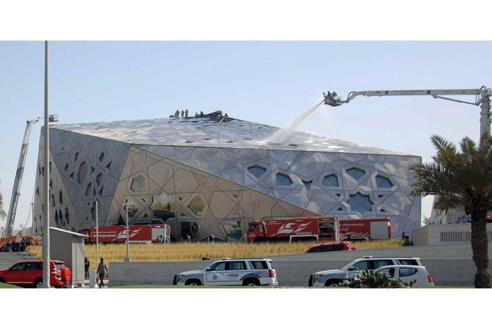 In pictures: Iconic Kuwait new opera house catches fire