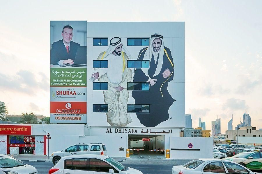 In pictures: Artists tell local narratives through murals on Dubai's 2nd of December Street