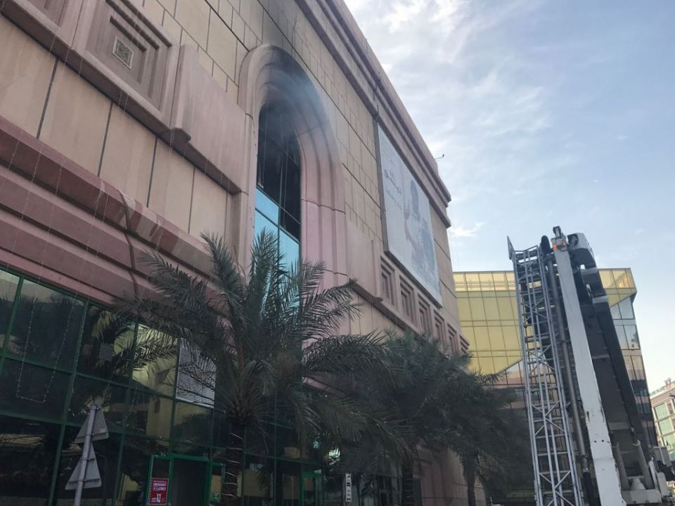 Dubai shopping mall evacuated after rooftop blaze