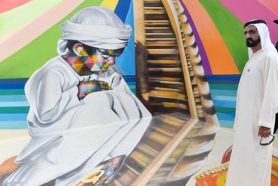 In pictures: Mohammed bin Rashid tours Dubai art festival