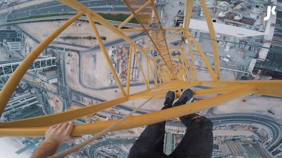 UK daredevil arrested after climbing crane in Dubai