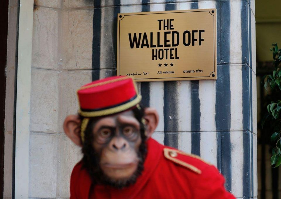 In pictures: Street artist Banksy's opened Walled Off hotel in Bethlehem