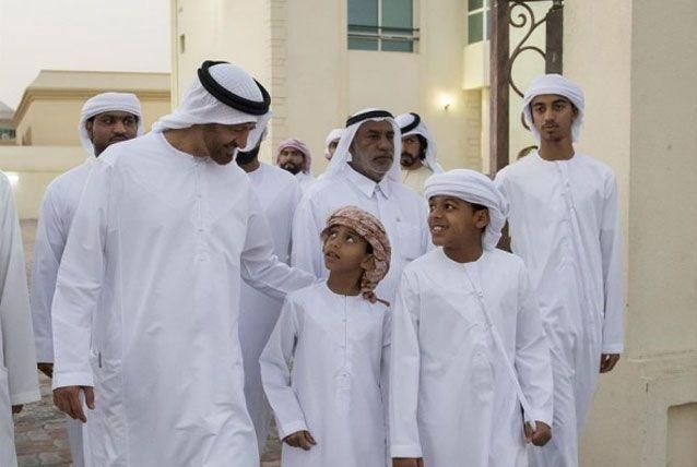 Abu Dhabi Crown Prince visits martyr's family