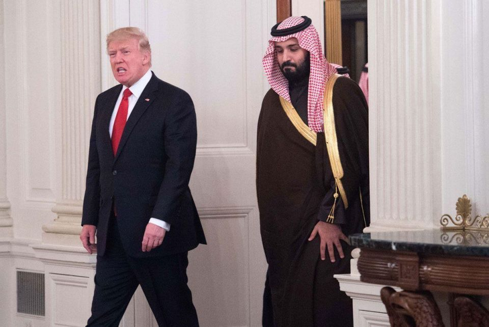 In pictures: Saudi Deputy Crown Prince Mohammed meets Donald Trump