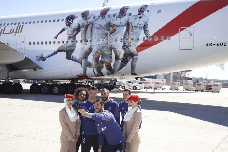 In pictures: Emirates unveils a new Real Madrid A380 plane