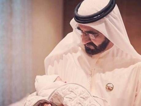 Dubai ruler Sheikh Mohammed meets his newest grandchild