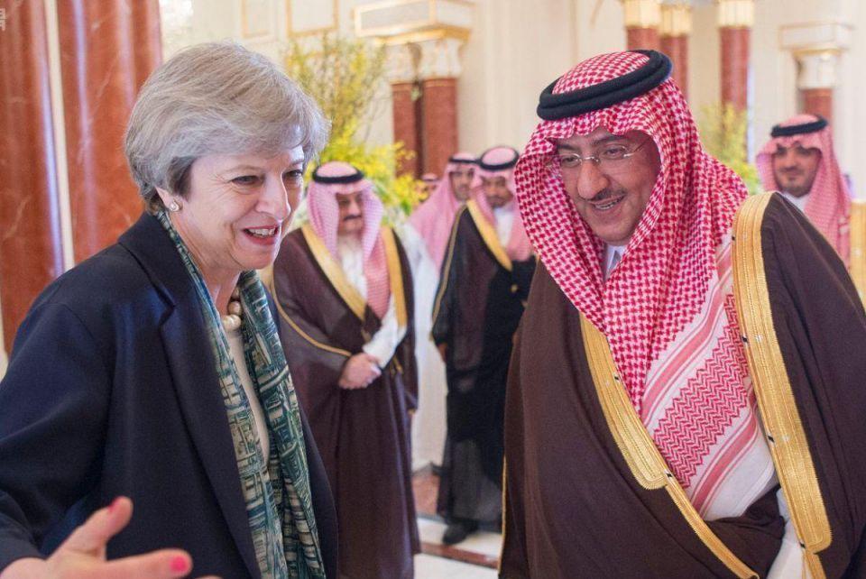In pictures: British PM arrives in Saudi Arabia