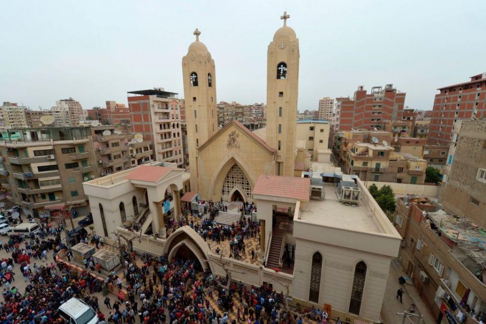 Dozens killed in two Egyptian church bombings on Palm Sunday