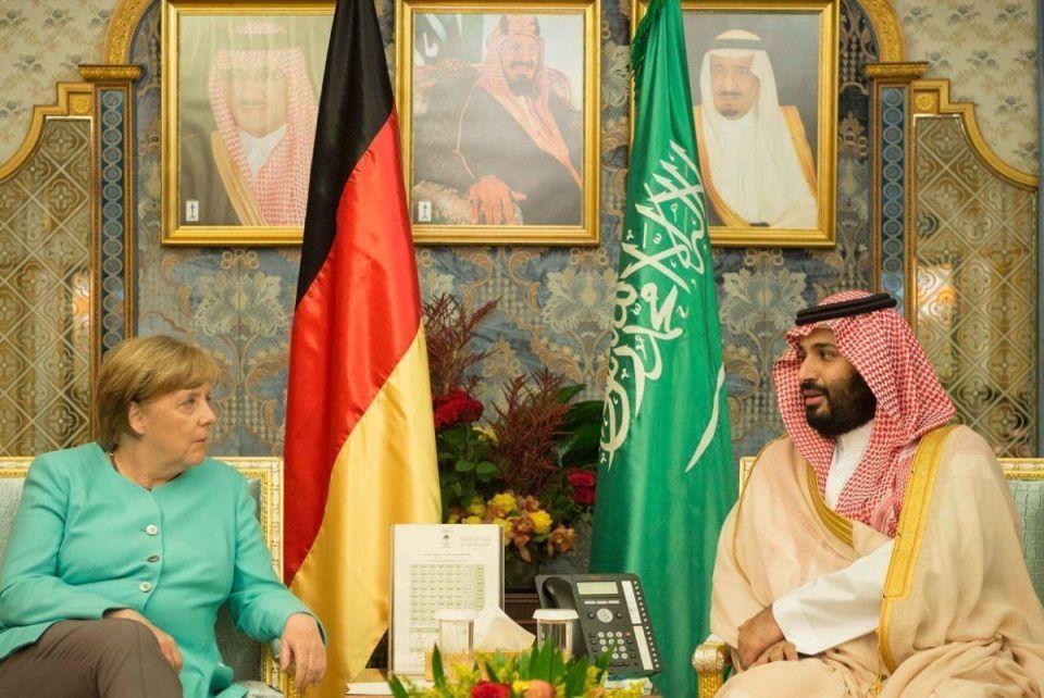 In pictures: German Chancellor Angela Merkel meets Saudi King Salman