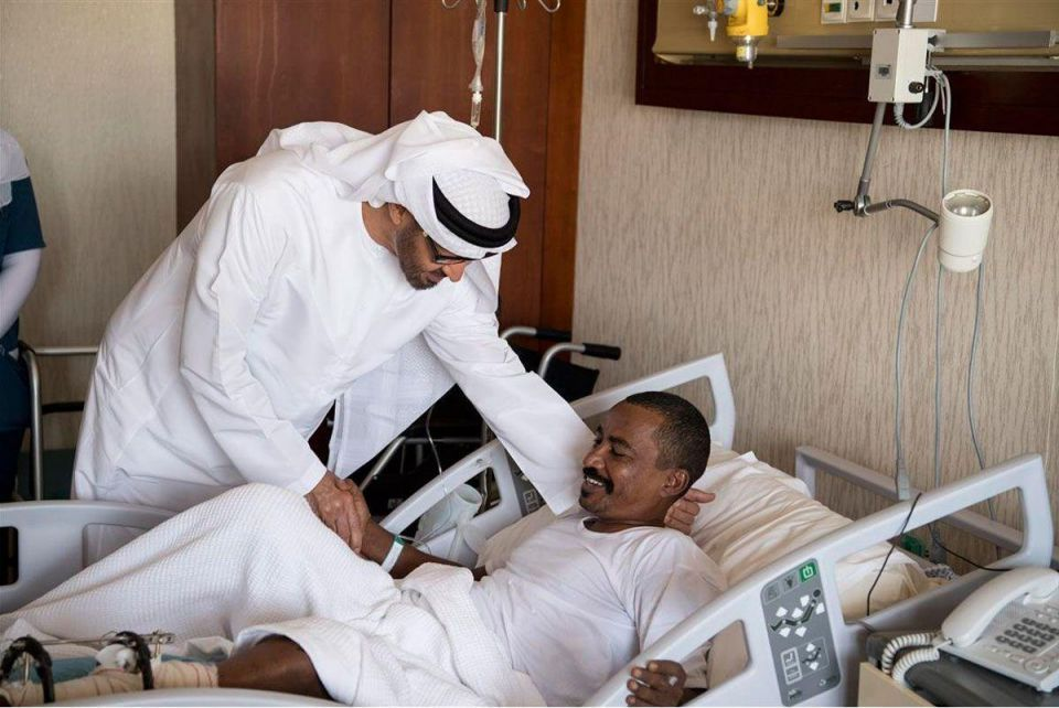 Abu Dhabi Crown Prince visits injured Emirati soldiers