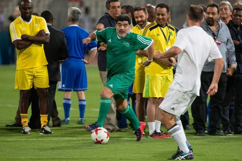 In pictures: FIFA Legends team take to the Bahrain National Stadium pitch