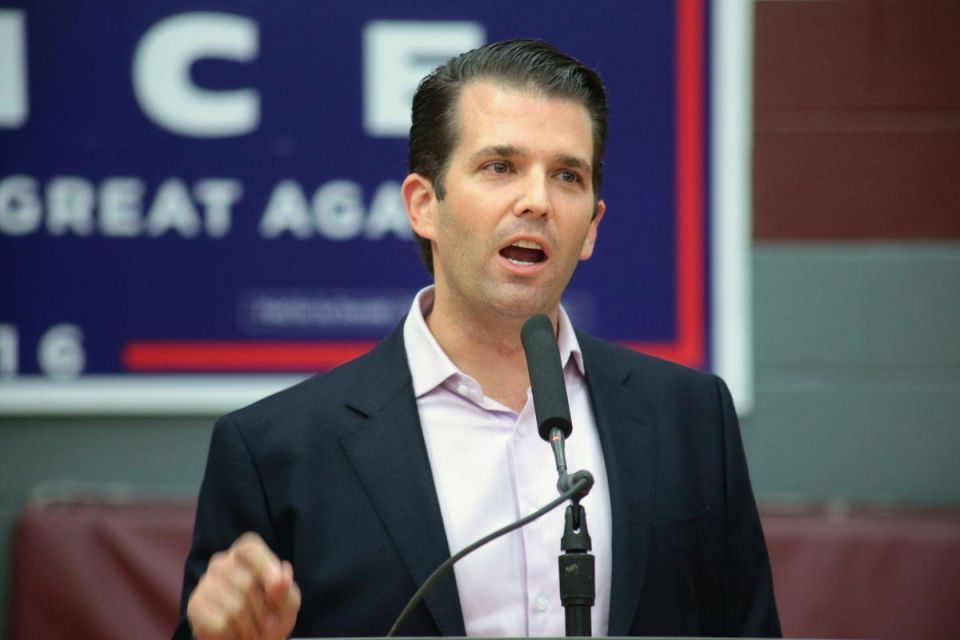 "Trump Jr tells Dubai audience he is ""impressed"" by his father"
