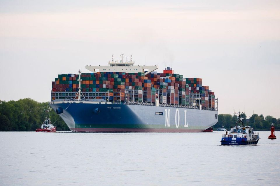 In pictures: World's largest container ship docks in port