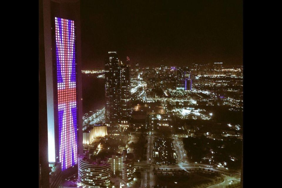 UAE landmark buildings light up in solidarity with Manchester