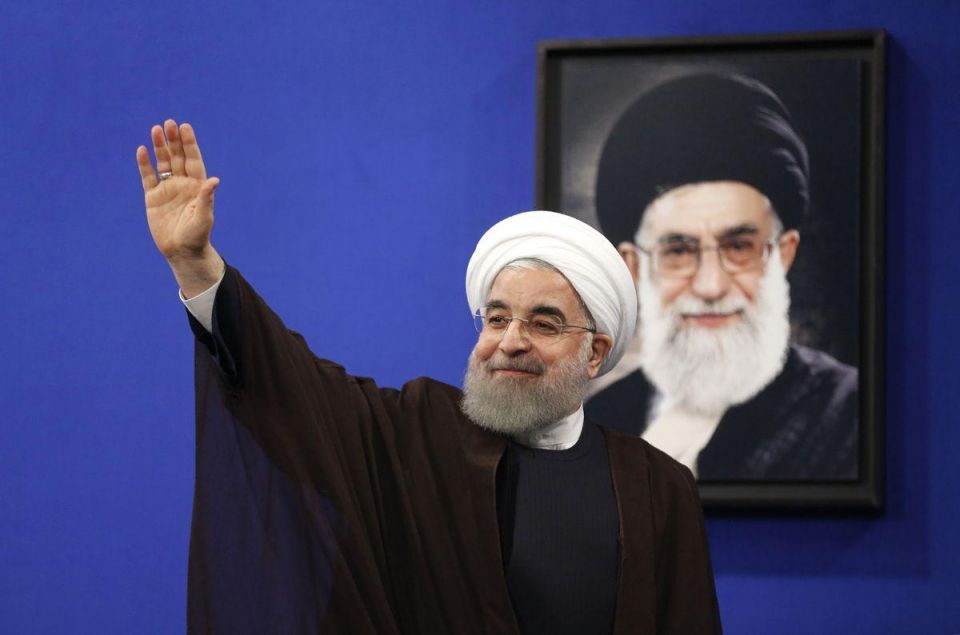 In pictures: Newly re-elected Iranian President Hassan Rouhani