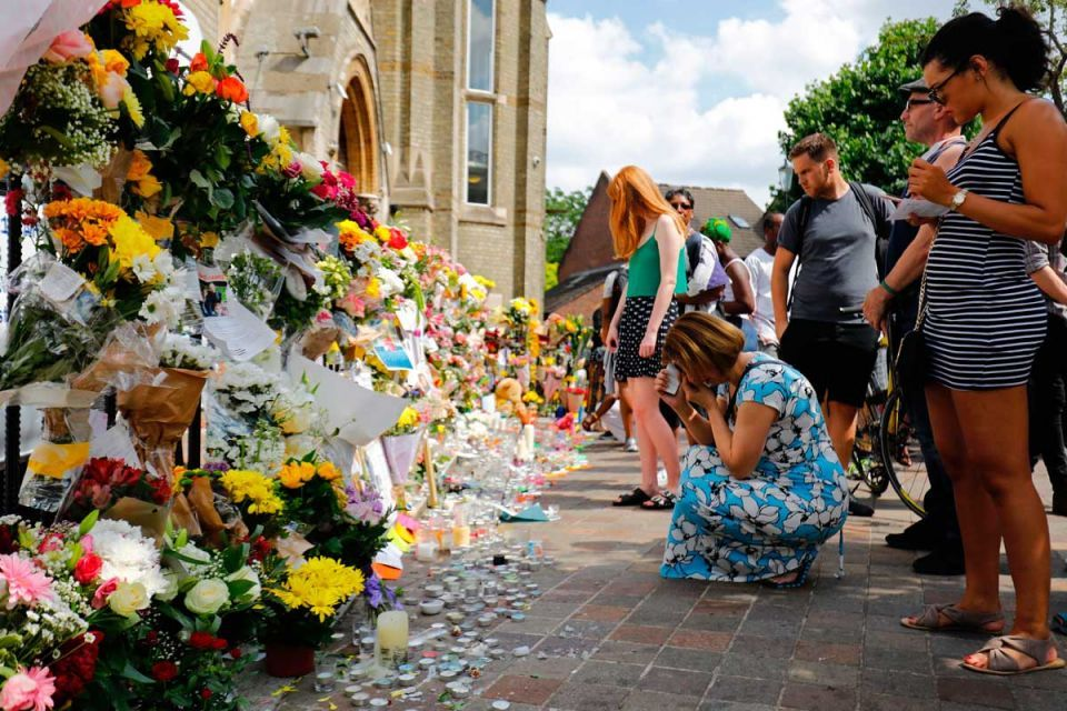 In pictures: Tributes to the victims of Grenfell tower fire