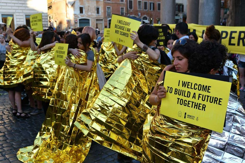 In pictures: Rally to mark World Refugee Day