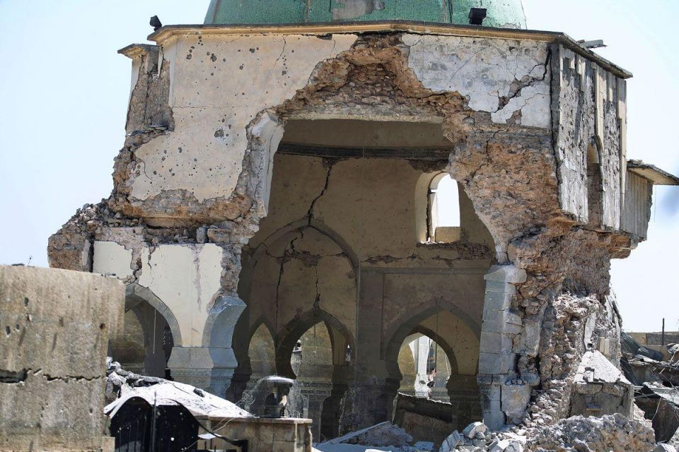 In pictures: Ruined historic grand mosque of al-Nuri in the Old City of Mosul