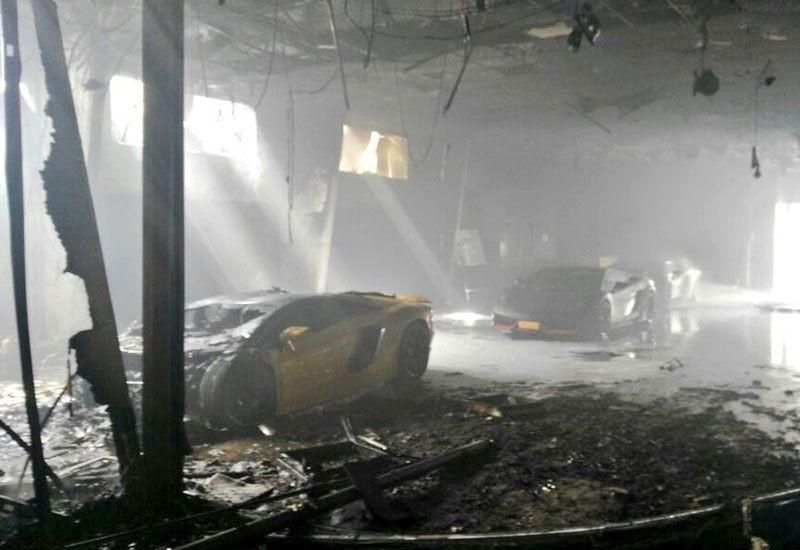 Lamborghinis among cars destroyed in massive Muscat fire