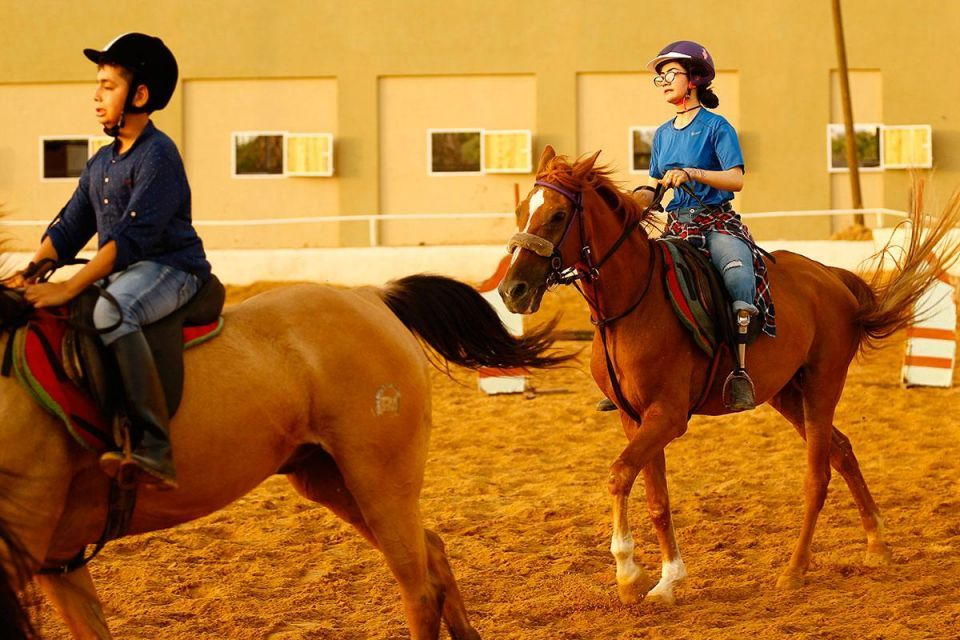 In pictures: Palestinian female Equestrian rider training in Gaza city