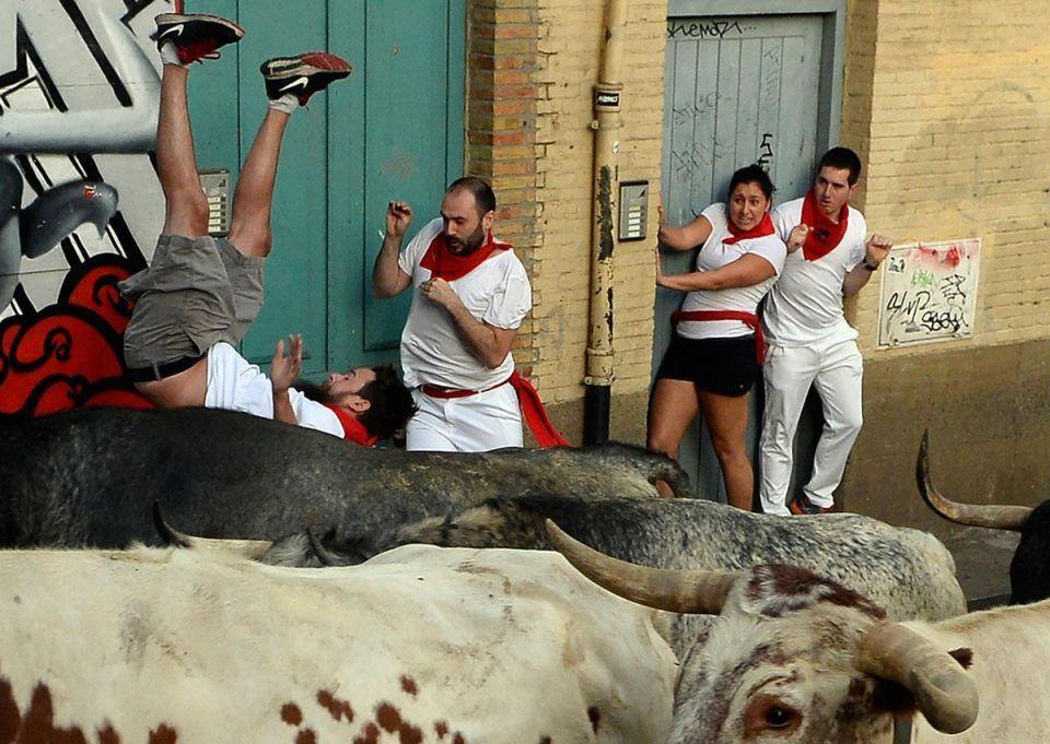 In pictures: Bull running festival in Spain