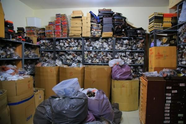 Aladdin's cave of fake leather goods discovered in Abu Dhabi