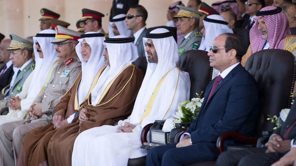 In pictures: Sheikh Mohamed bin Zayed attends opening of Mohamed Naguib Military Base in Egypt