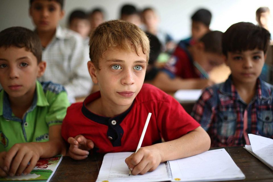In pictures: Syrian children's back to school in the eastern Ghouta town of Douma
