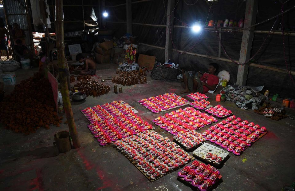 In pictures: Preparation ahead of the Hindu festival 'Diwali'