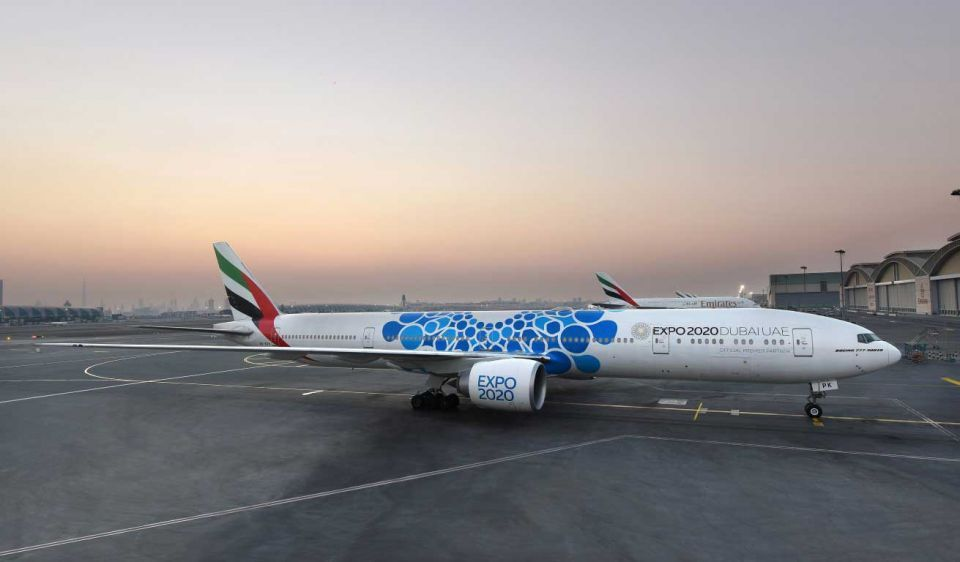 Emirates unveils aircraft with new Expo 2020 design
