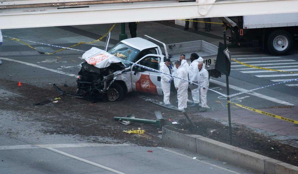 Truck driver kills eight in New York 'act of terror'