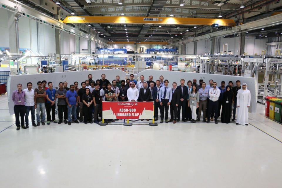 UAE's Strata delivers first set of A350 flaps to Airbus