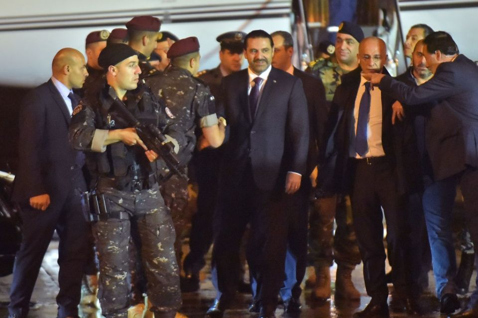 'Resigned' PM Hariri back in Lebanon in time for Independence Day