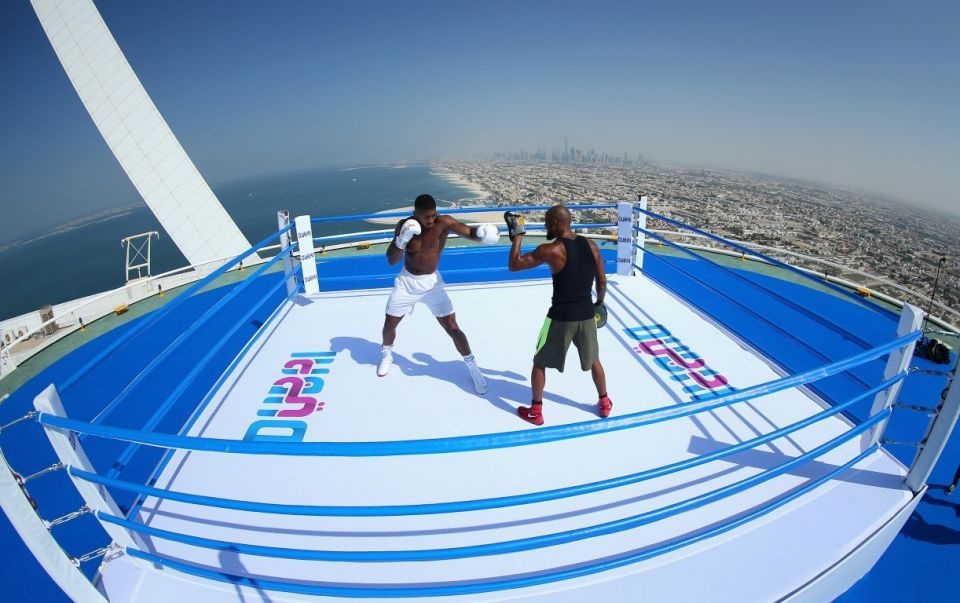 In pictures: Heavyweight champion Anthony Joshua in Dubai