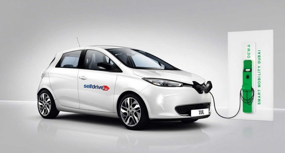 Rent an electric car in Dubai for AED5 per hour