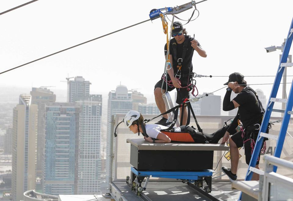 In pictures: Brand new urban zipline at Dubai Marina