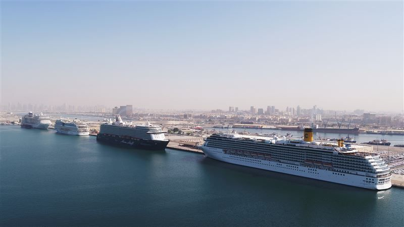 Dubai's Rashid Port receives four cruise ships on single day