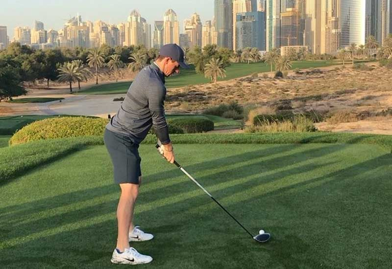 Rory McIlroy prepares for new season in Dubai