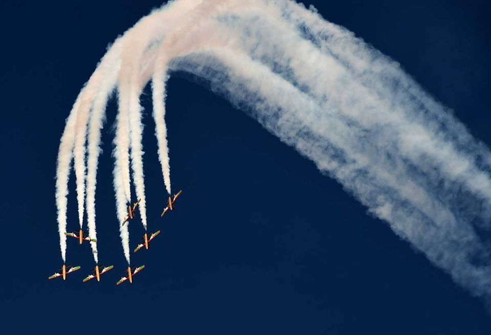In pictures: Aerobatic teams show off at Saudi aviation show