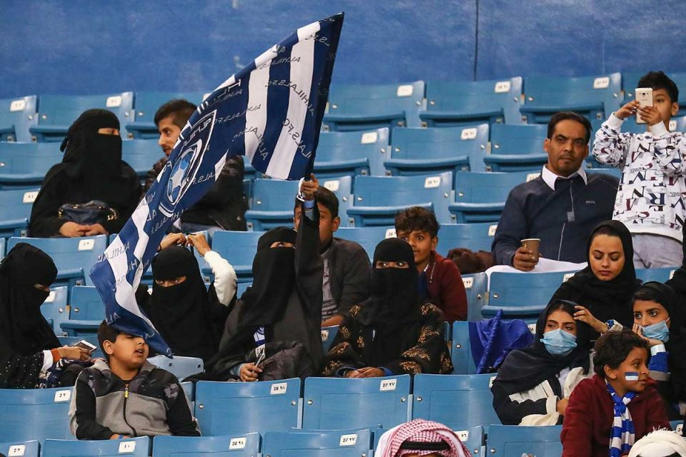 In pictures: Saudi Arabia football stadia welcomes female supporters