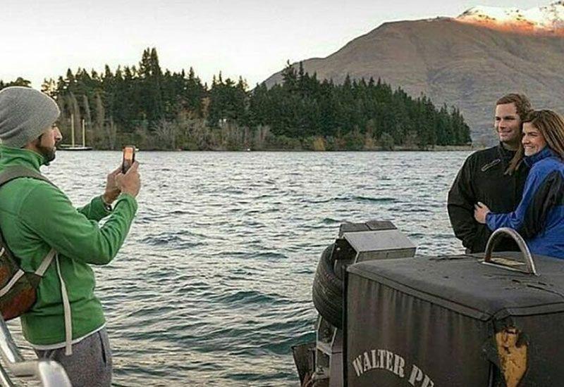 Sheikh Hamdan snaps photo of couple while on holiday