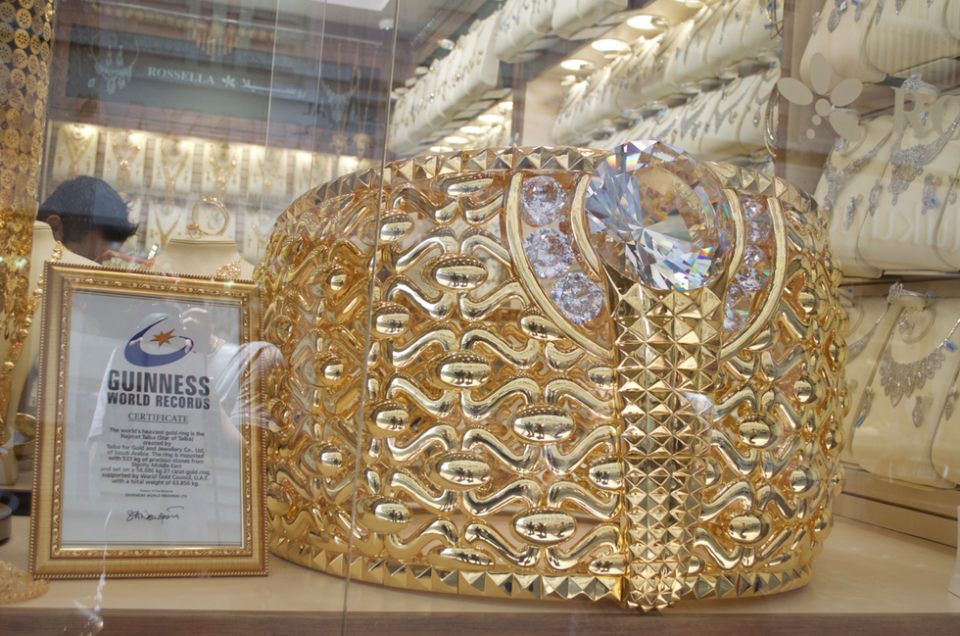 World's largest gold ring goes on show at Sharjah mall