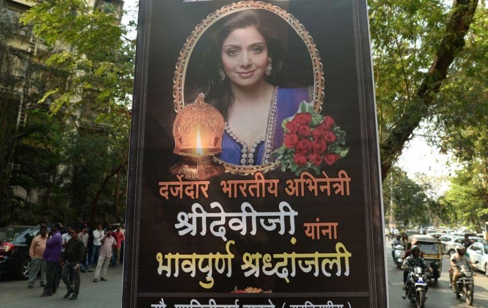 India says farewell to Bollywood icon Sridevi