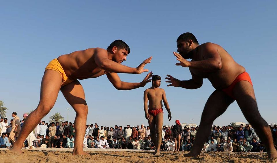 In pictures: Traditional Pakistani wrestling match in Dubai