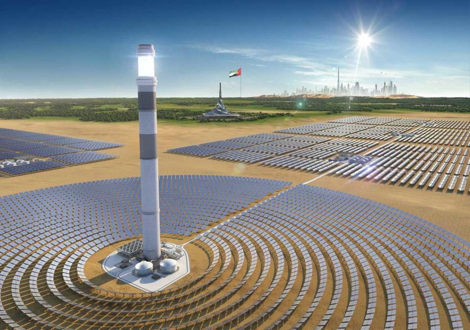Construction progresses on final phase of giant Dubai solar park