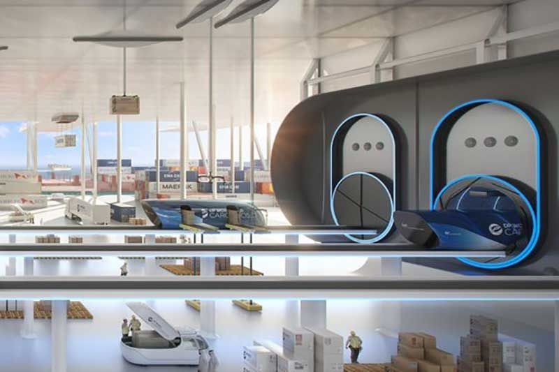 "In pictures: Launch of hyperloop-enabled cargo transport ""DP World Cargospeed"""