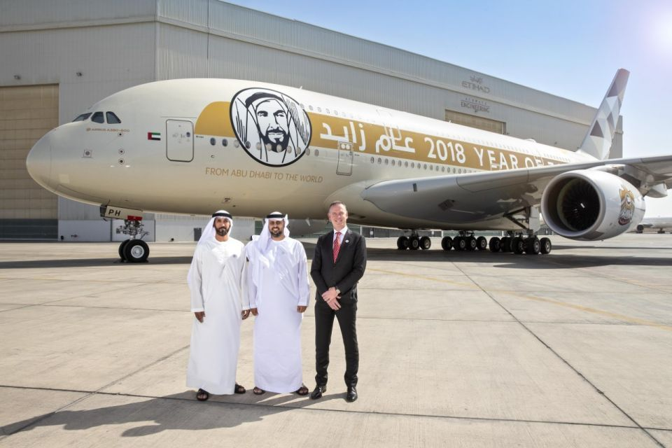 UAE's Etihad launches Year of Zayed A380 aircraft