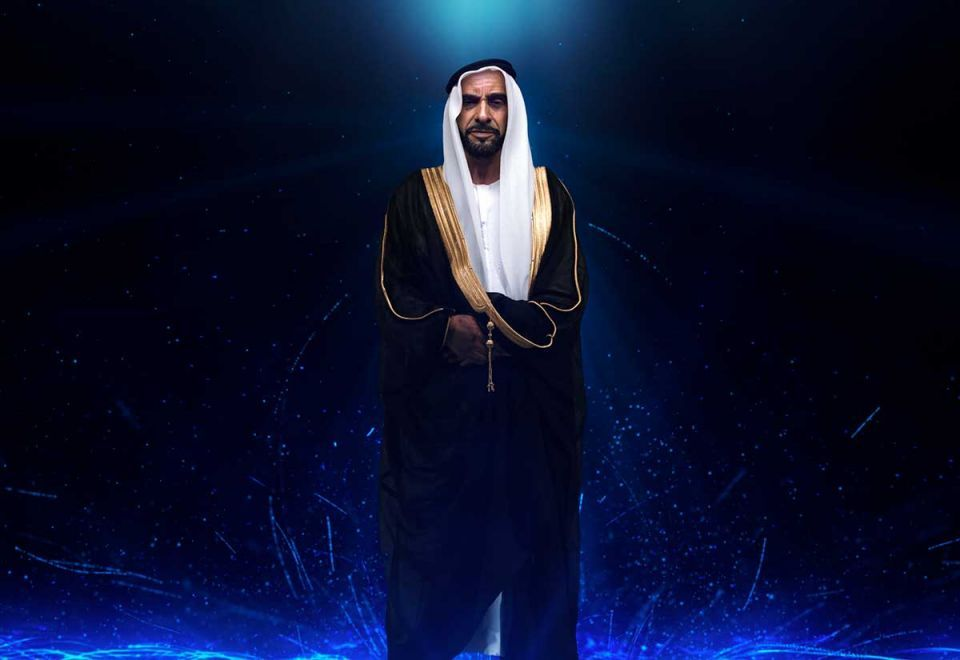 The late Sheikh Zayed brought to life in hologram form